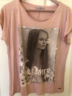 17&co Shirt met print roségoud-zilver