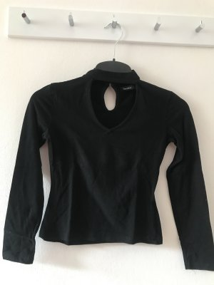 Bershka Long Shirt black