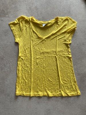Kaffe Shirt basique jaune tissu mixte
