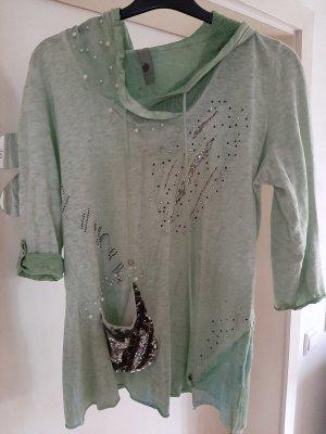 Tredy Top à capuche vert pâle-vert clair coton