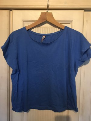 Cropped Shirt blue