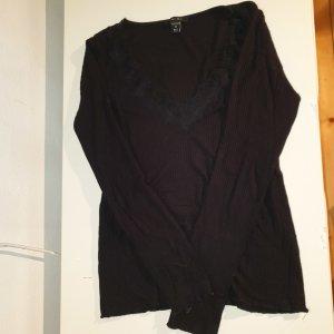 Amisu Camisa con cuello V negro
