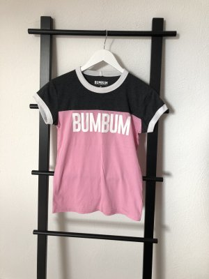 BumBum T-shirt gris anthracite-rose