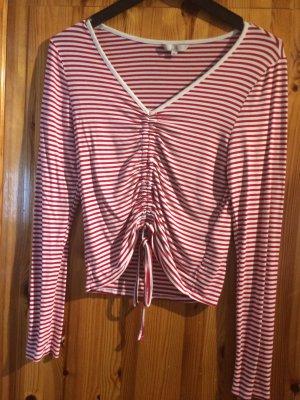 Gestreept shirt wit-donkerrood