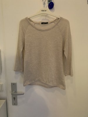 Short Sleeve Sweater gold-colored-cream