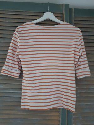 Armor Lux Maglietta a righe bianco-arancione chiaro