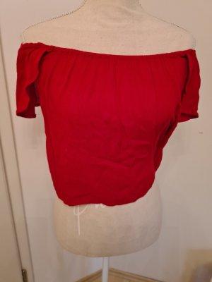 Mango Koszula typu carmen czerwony