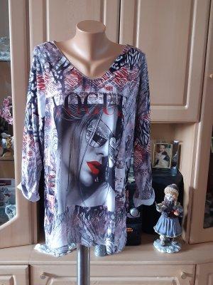 Made in Italy Oversized Shirt magenta-azure