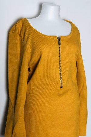 Fishbone Ribbed Shirt ocher