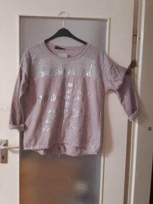 Made in Italy Camisa holgada color rosa dorado-color plata Algodón