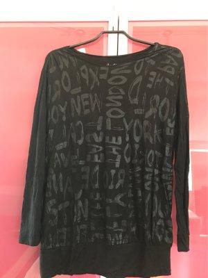 Vera Moda Camicia lunga nero Viscosa