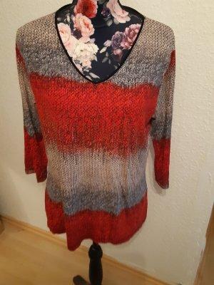 V-Neck Shirt grey-red