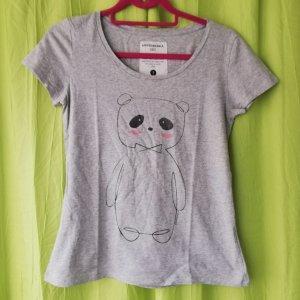 armedangels T-shirt gris clair coton