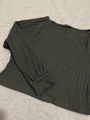 SheIn Camisa tipo Carmen negro