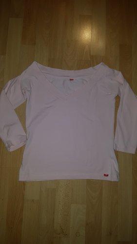 Esprit T-shirt col en V rose clair