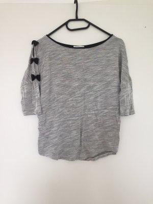 Shirt 3/4 Arm mit Leder-imitat Schleifen und Rundhals