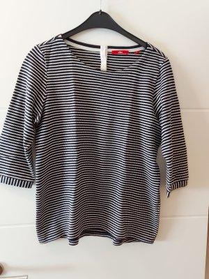 Shirt 3/4 Arm S.Oliver dunkelblau/weiß 42