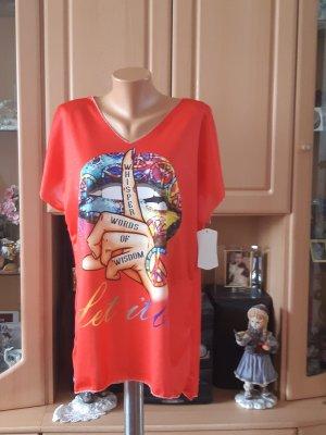 Made in Italy Camisa holgada rojo claro