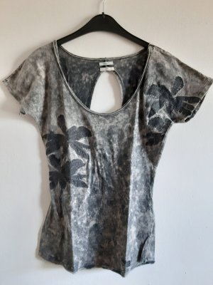 Khujo T-shirt gris brun-marron clair