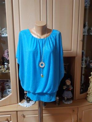 Made in Italy Blusa taglie forti azzurro Viscosa