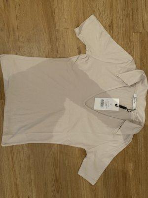 Aéryne x NA-KD Camisa de cuello de tortuga rosa-crema Viscosa