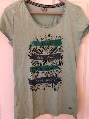 17&co Shirt met print grijs-groen-staalblauw