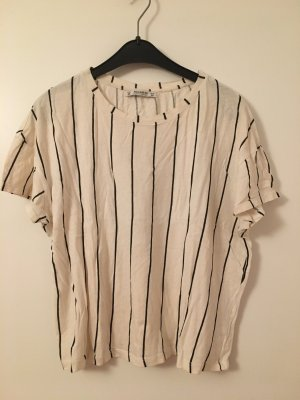 Pull & Bear Camicia oversize bianco-nero