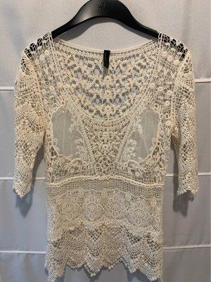 Vero Moda Crochet Shirt natural white