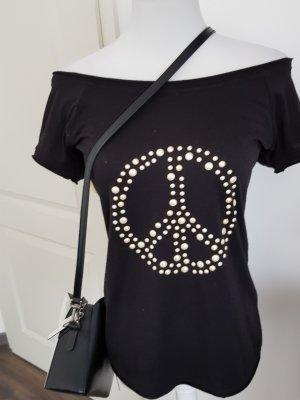 Rinascimento Boatneck Shirt white-black