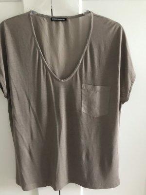 Drykorn V-Neck Shirt grey brown