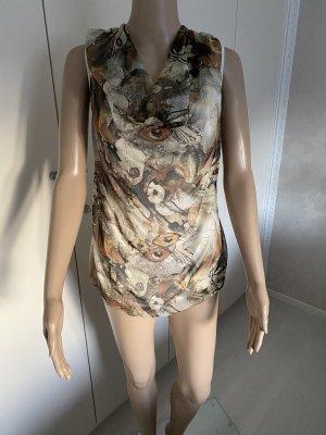 Made in Italy Koszulka z dekoltem woda Wielokolorowy