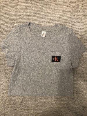 Calvin Klein Cropped Shirt light grey