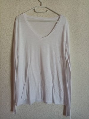 Koszulka z dekoltem w kształcie litery V biały