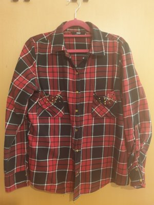 Flannel Shirt brick red-black