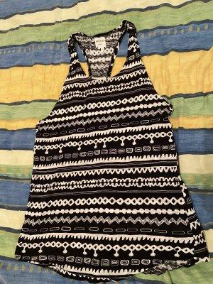 Monki Basic topje zwart-wit