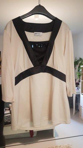 Ulla Popken Koszulka z dekoltem w kształcie litery V czarny-kremowy