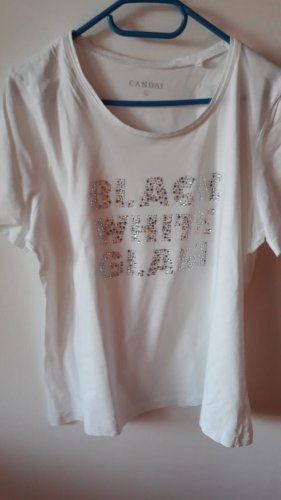 C&A T-Shirt white-silver-colored