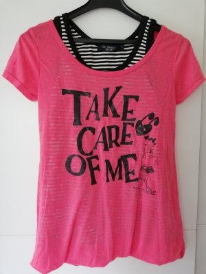 100% Fashion Camisa tejida rosa