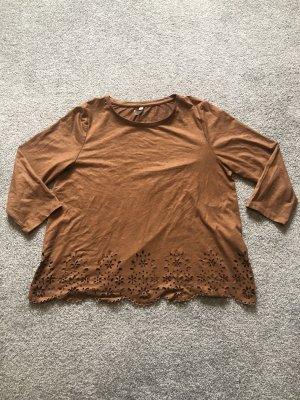 Camicia a tunica color cammello