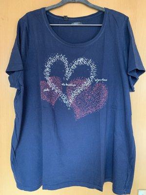 bpc Shirt met print donkerblauw-paars