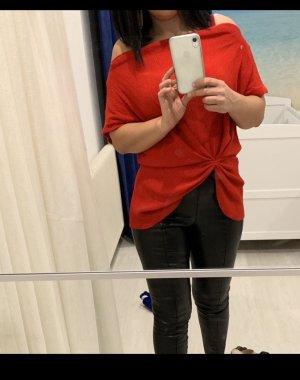 Mango Camisa tipo Carmen rojo