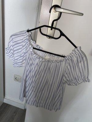 H&M Eénschoudershirt wit-azuur