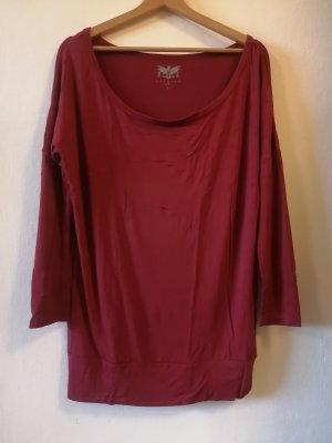 Black Premium by EMP Camisa de un solo hombro burdeos