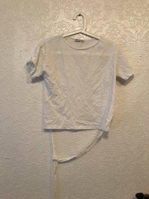 Zara Top z odkrytymi plecami biały