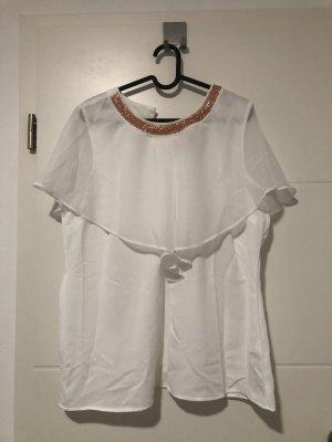 Koszulka z dekoltem w łódkę biały