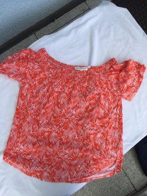 H&M L.O.G.G. Camisa tipo Carmen blanco-naranja