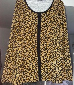 Laura Torelli Camicia a tunica nero-giallo-oro