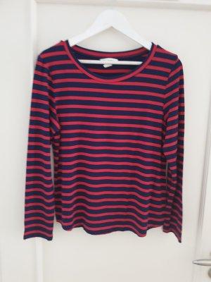 H&M Oversized shirt donkerrood-donkerblauw