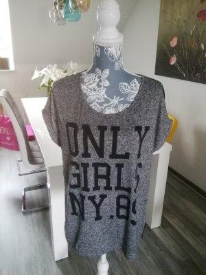 Only Netshirt zwart-grijs