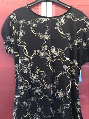 0039 Italy T-shirt czarny-złotopomarańczowy Bawełna